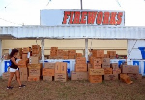 On July 5th, this Fireworks Stand Is Packing Up Unsold, Costly Inventory That Must Be Stored Until Next Year. In the Meantime, the Fireworks are Worthless to the Owner.